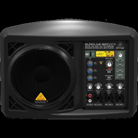 Behringer EUROLIVE B207MP3 150W Aktív Hangfal 4-csatornás Keverővel
