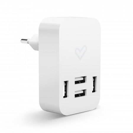 Energy Home Charger 4.0A Quad USB fehér univerzális töltő 4 USB porttal
