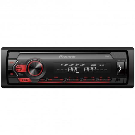 Pioneer MVH-S120UB USB/AUX autóhifi fejegység, piros