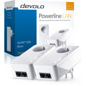 devolo D 9303 dLAN 550 duo+ Starter Kit áramLAN
