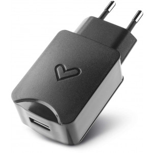 Energy Home Charger 2.1A High Power fekete univerzális töltő USB porttal