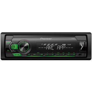 Pioneer MVH-S120UBG USB/AUX autóhifi fejegység, zöld